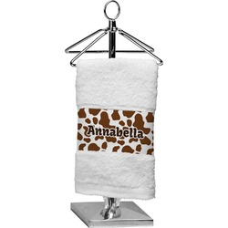 Cow Print Finger Tip Towel (Personalized)