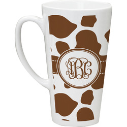 Cow Print Latte Mug (Personalized)