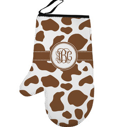 Cow Print Left Oven Mitt (Personalized)