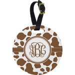 Cow Print Round Luggage Tag (Personalized)
