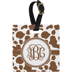 Cow Print Square Luggage Tag (Personalized)