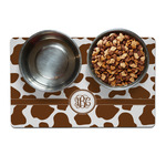 Cow Print Dog Food Mat (Personalized)
