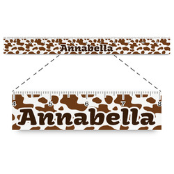 """Cow Print Plastic Ruler - 12"""" (Personalized)"""