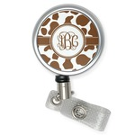 Cow Print Retractable Badge Reel (Personalized)