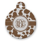 Cow Print Round Pet Tag (Personalized)