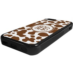 Cow Print Rubber iPhone 5C Phone Case (Personalized)