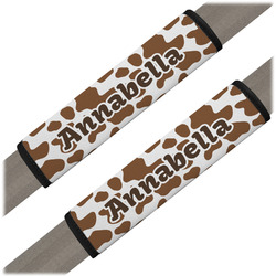 Cow Print Seat Belt Covers (Set of 2) (Personalized)