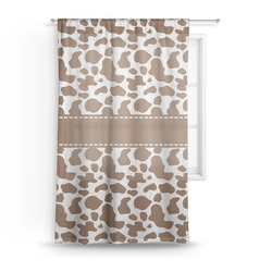 Cow Print Sheer Curtains (Personalized)