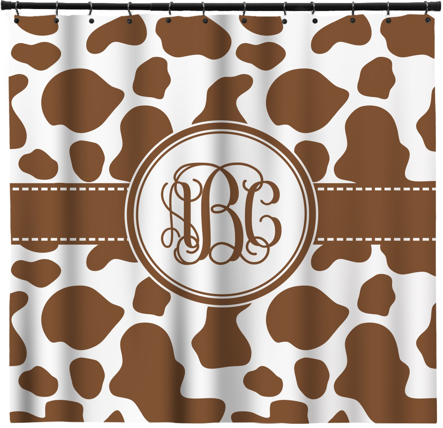 Cow Print Shower Curtain Personalized