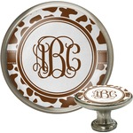 Cow Print Cabinet Knob (Silver) (Personalized)