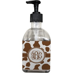 Cow Print Soap/Lotion Dispenser (Glass) (Personalized)