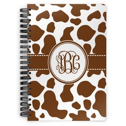 Cow Print Spiral Bound Notebook (Personalized)