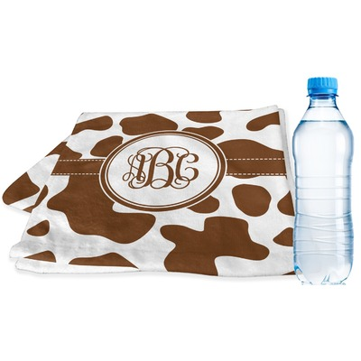 Cow Print Sports & Fitness Towel (Personalized)
