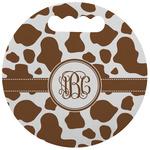 Cow Print Stadium Cushion (Round) (Personalized)