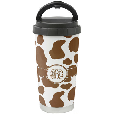 Cow Print Stainless Steel Travel Mug Personalized