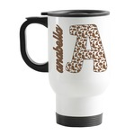 Cow Print Stainless Steel Travel Mug with Handle