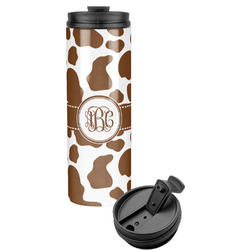 Cow Print Stainless Steel Travel Tumbler (Personalized)