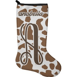 Cow Print Christmas Stocking - Neoprene (Personalized)