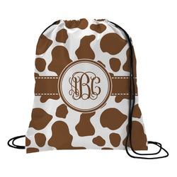 Cow Print Drawstring Backpack (Personalized)
