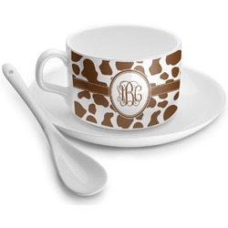 Cow Print Tea Cup - Single (Personalized)
