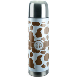 Cow Print Stainless Steel Thermos (Personalized)