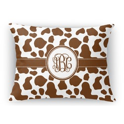 Cow Print Rectangular Throw Pillow (Personalized)
