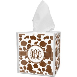 Cow Print Tissue Box Cover (Personalized)