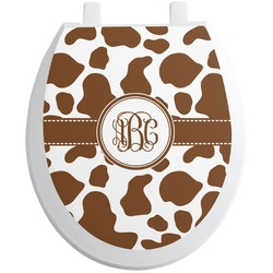 Cow Print Toilet Seat Decal (Personalized)