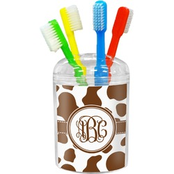 Cow Print Toothbrush Holder (Personalized)