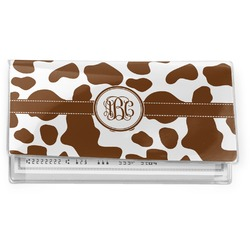 Cow Print Vinyl Checkbook Cover (Personalized)