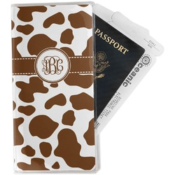 Cow Print Travel Document Holder