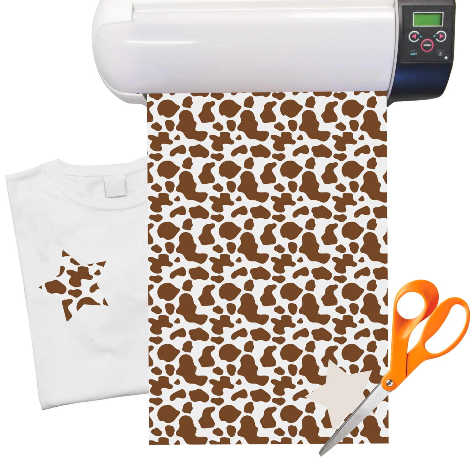picture about Printable Iron on Vinyl referred to as Cow Print Warm Shift Vinyl Sheet (12\