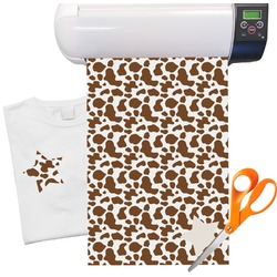 "Cow Print Heat Transfer Vinyl Sheet (12""x18"")"