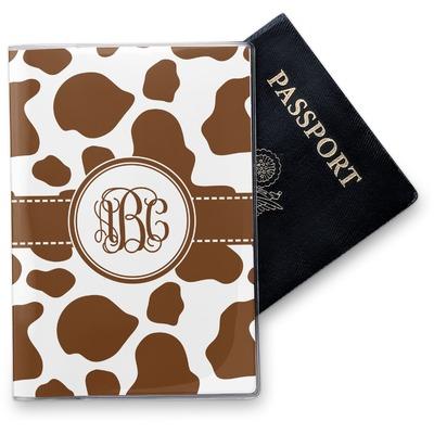 Cow Print Vinyl Passport Holder (Personalized)