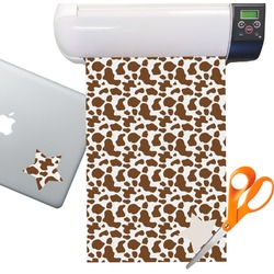 Cow Print Sticker Vinyl Sheet (Permanent)