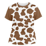 Cow Print Women's Crew T-Shirt (Personalized)