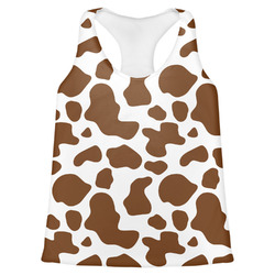 Cow Print Womens Racerback Tank Top (Personalized)