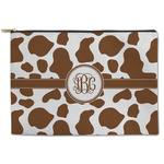 Cow Print Zipper Pouch (Personalized)