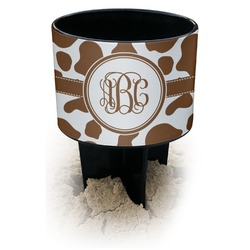 Cow Print Black Beach Spiker Drink Holder (Personalized)