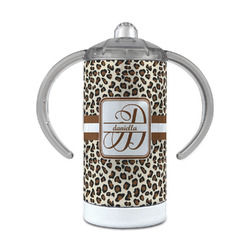 Leopard Print 12 oz Stainless Steel Sippy Cup (Personalized)