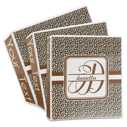 Leopard Print 3-Ring Binder (Personalized)