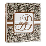 Leopard Print 3-Ring Binder - 1 inch (Personalized)