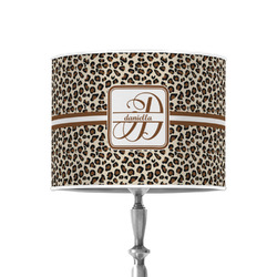 """Leopard Print 8"""" Drum Lamp Shade - Poly-film (Personalized)"""