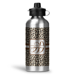 Leopard Print Water Bottle - Aluminum - 20 oz (Personalized)