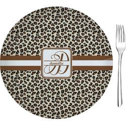 "Leopard Print 8"" Glass Appetizer / Dessert Plates - Single or Set (Personalized)"