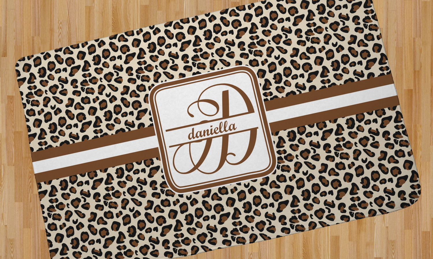 Leopard Print Area Rug Personalized Youcustomizeit