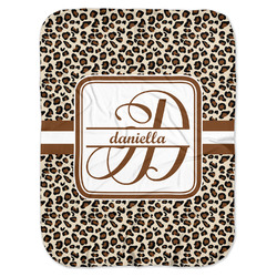 Leopard Print Baby Swaddling Blanket (Personalized)