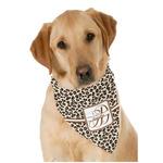 Leopard Print Dog Bandana Scarf w/ Name and Initial