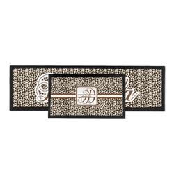 Leopard Print Bar Mat (Personalized)