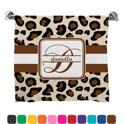 Leopard Print Full Print Bath Towel (Personalized)